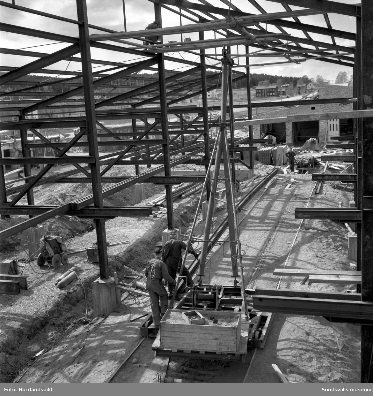 Njurundaverken bygger stommen till nya Laurents såg i Nacksta.
