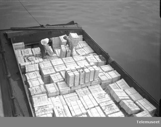 Skip, varetransport til Santiago, Elektrisk Bureau.