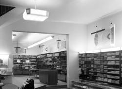 Interiörbilder från Konsumvaruhuset på Storgatan 18.
