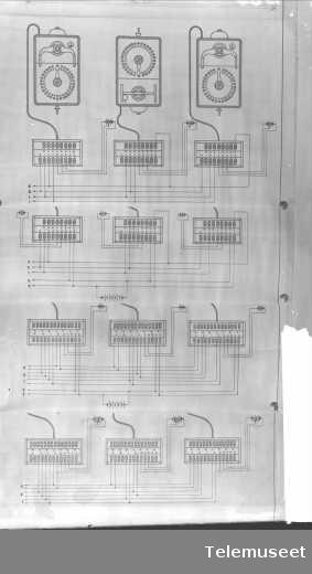 Koblingsskjema for lokaltelefonapparat.11.2.16. Elektrisk Bureau.