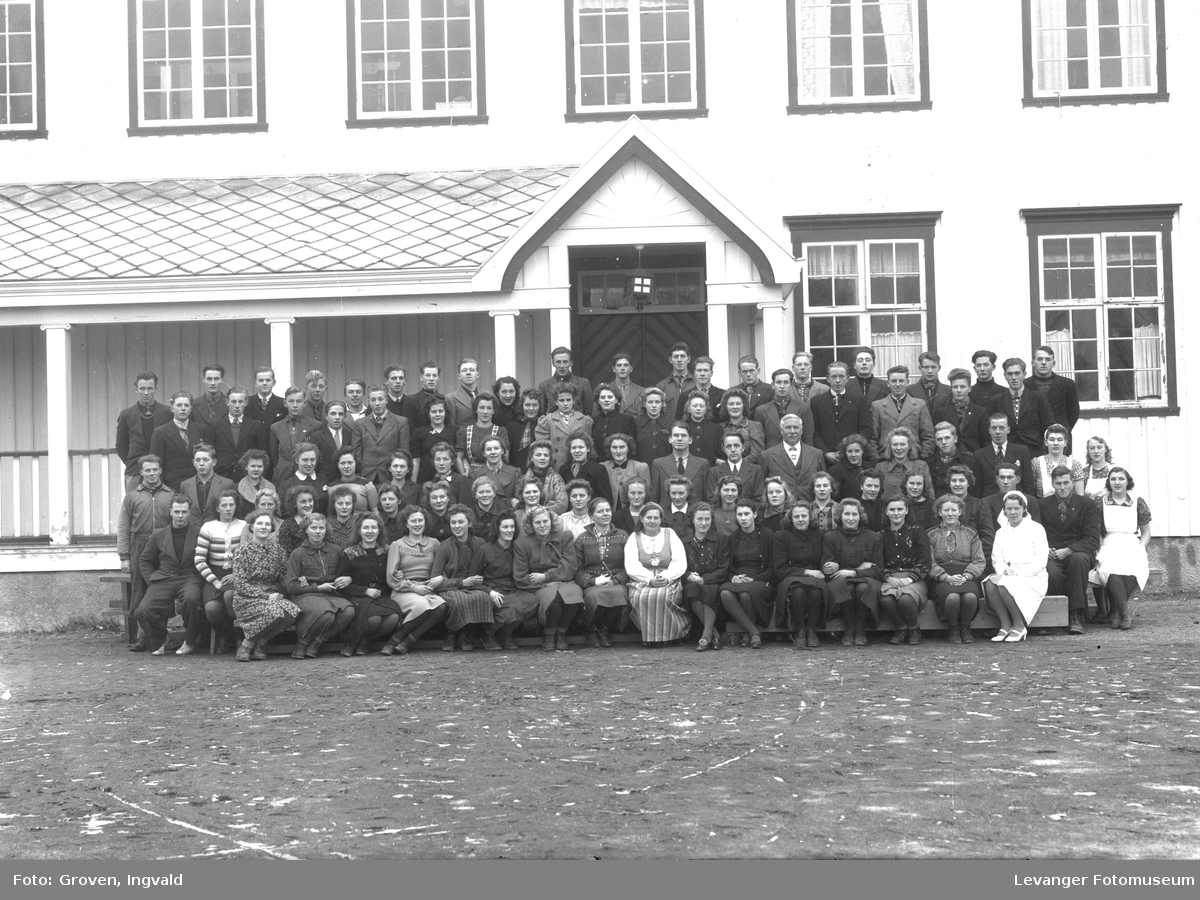 Skolebilde, Sund folkehøgskole med personalet