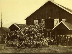 Foto av arbeidsstokk  Sagbruk