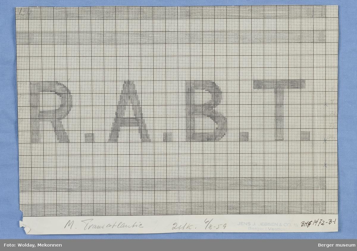 Rederiflagg. R.A.B.T.