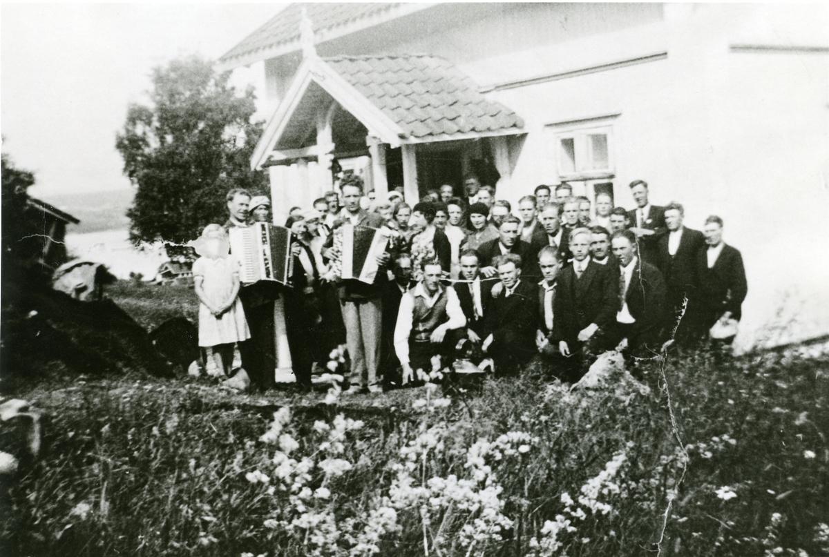 Ungdomslaget i vestre Bagn i 1930-åra.