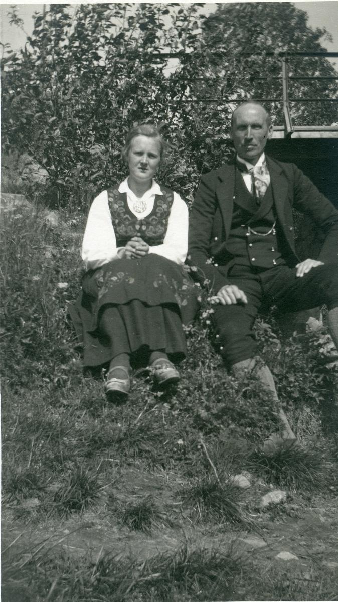 Olaus Islandsmoen og Olga Martinsen.