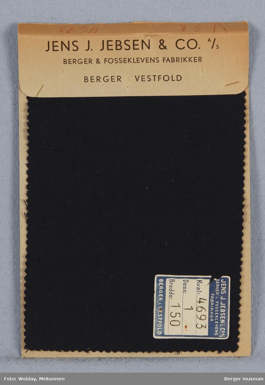 Prøvehefte med 1 prøve. Kamgarn dresstøy Stykkfarget Kvalitet: 4693