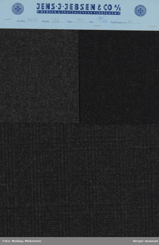 Prøvehefte med 3 prøver Melert Frakk Kvalitet 5600