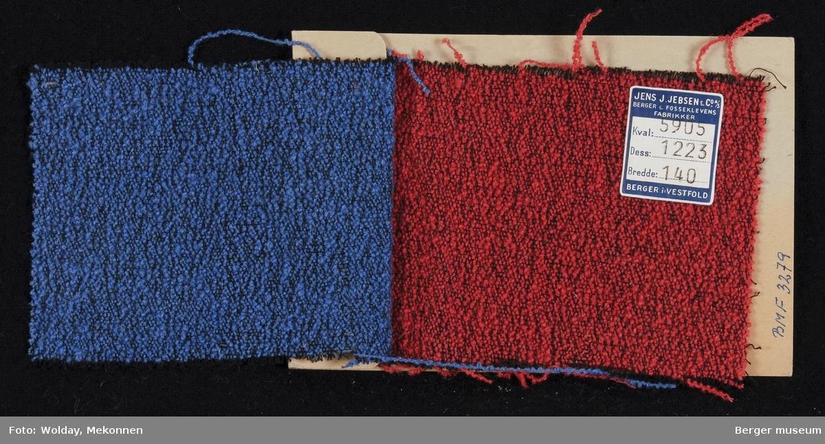 Prøvehefte med 2 prøver Dekorasjon Kvalitet 5905 Stykkfarget