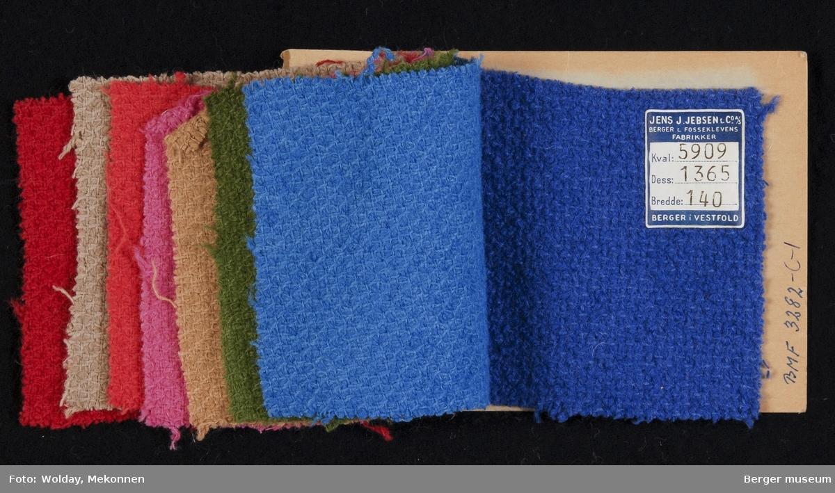 Prøvehefte med 8 prøver Kåpe Kvalitet 5909 Stykkfarget