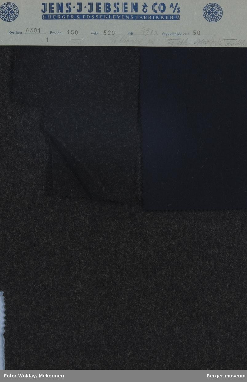 Prøvehefte med 3 prøver Frakk Kvalitet 6301 Melert