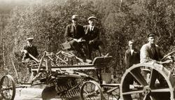 """""""Stockland slepeveghøvel, ca 1924. Første av sitt slag i Tro"""