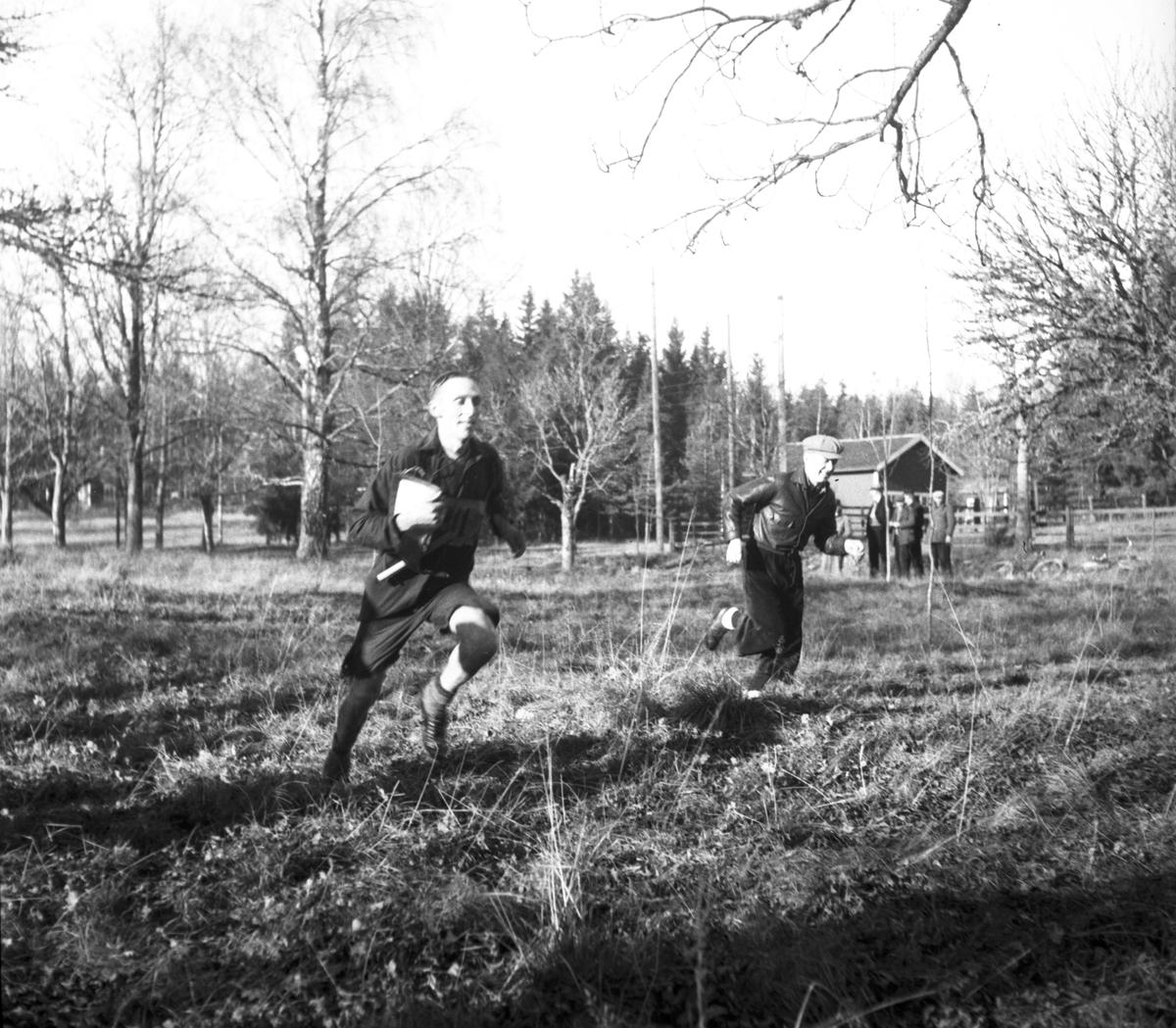 DM i budkavle till fots. 1938