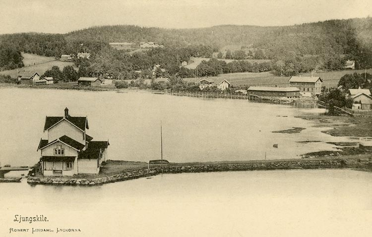 """Enligt Bengt Lundins noteringar: """"Varmbadhus nr.4. Det fjärde varmbadhuset byggdes 1882 och revs på 1920-talet""""."""