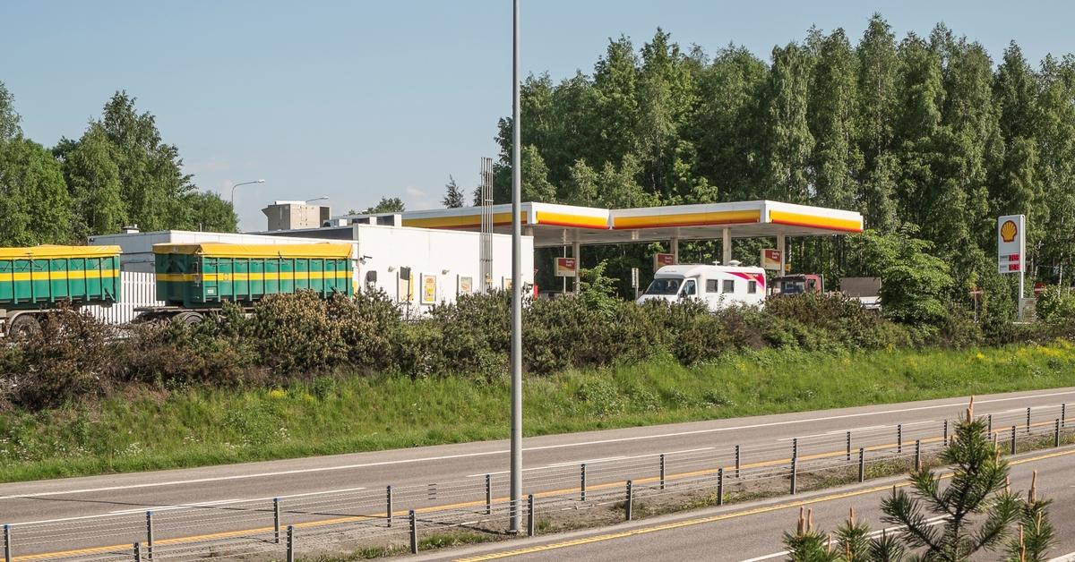 Shell bensinstasjon E6 Sydgående Kirkeveien Skedsmokorset Skedsmo