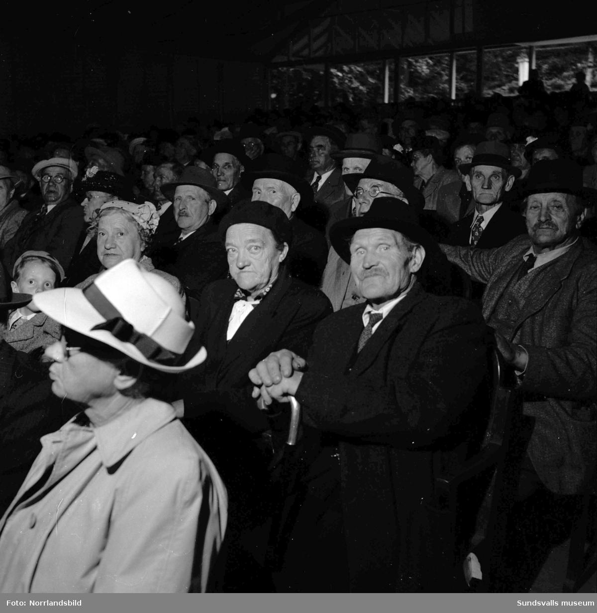 Pensionärer på fest i Folkets park.