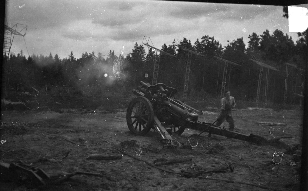 Haubits m/1939. 10,5 cm. Grundvärdesskjutningar.