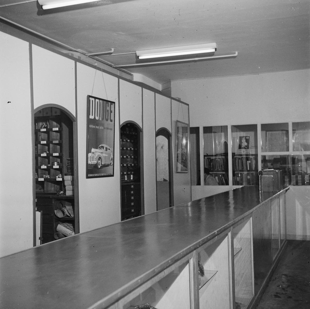 Bilfirman Philipsons, Uppsala, januari 1947