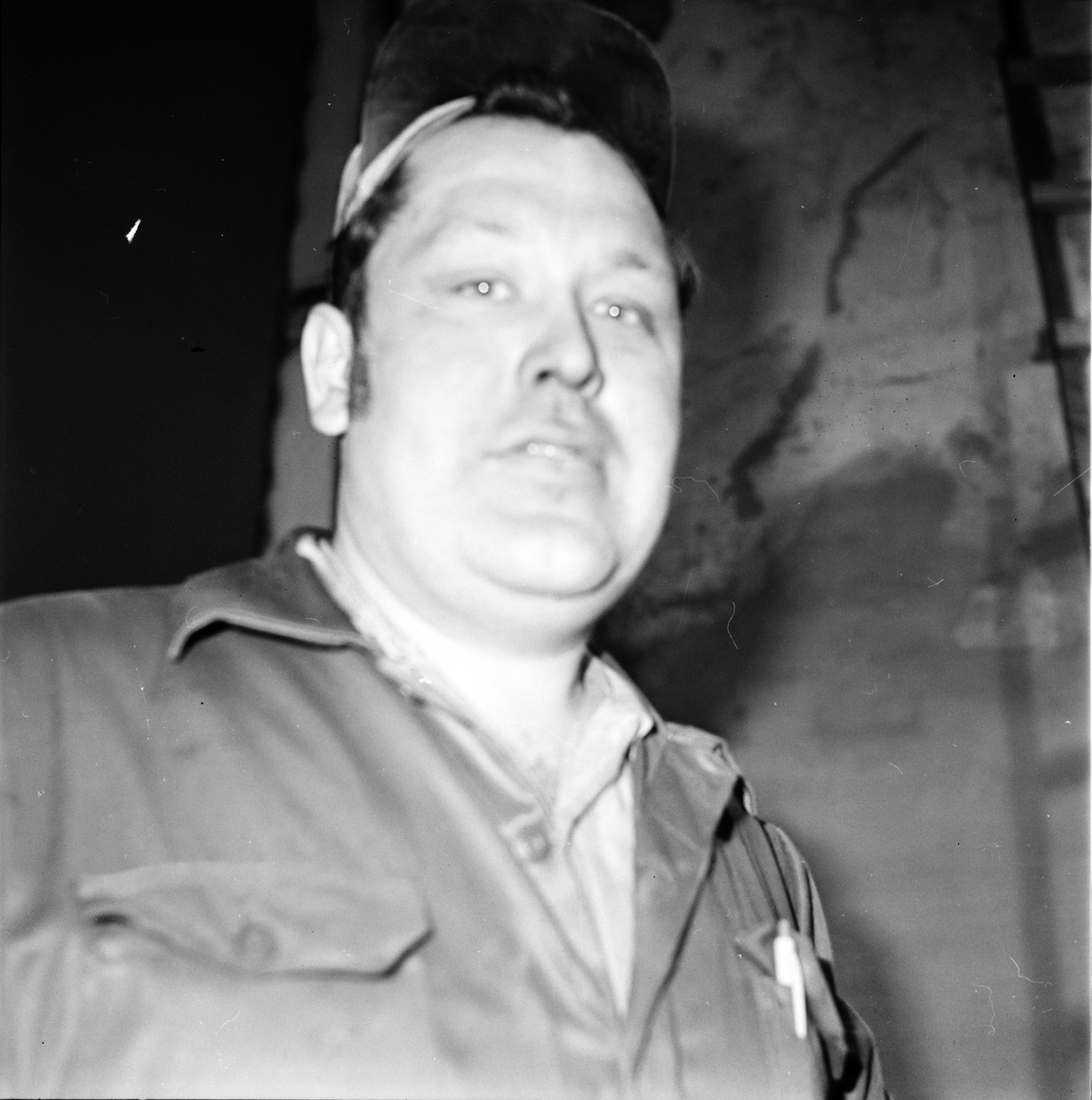 Vallsta, Fabrikör PerIvar Andersson, Vallstabyn, 2 Maj 1973
