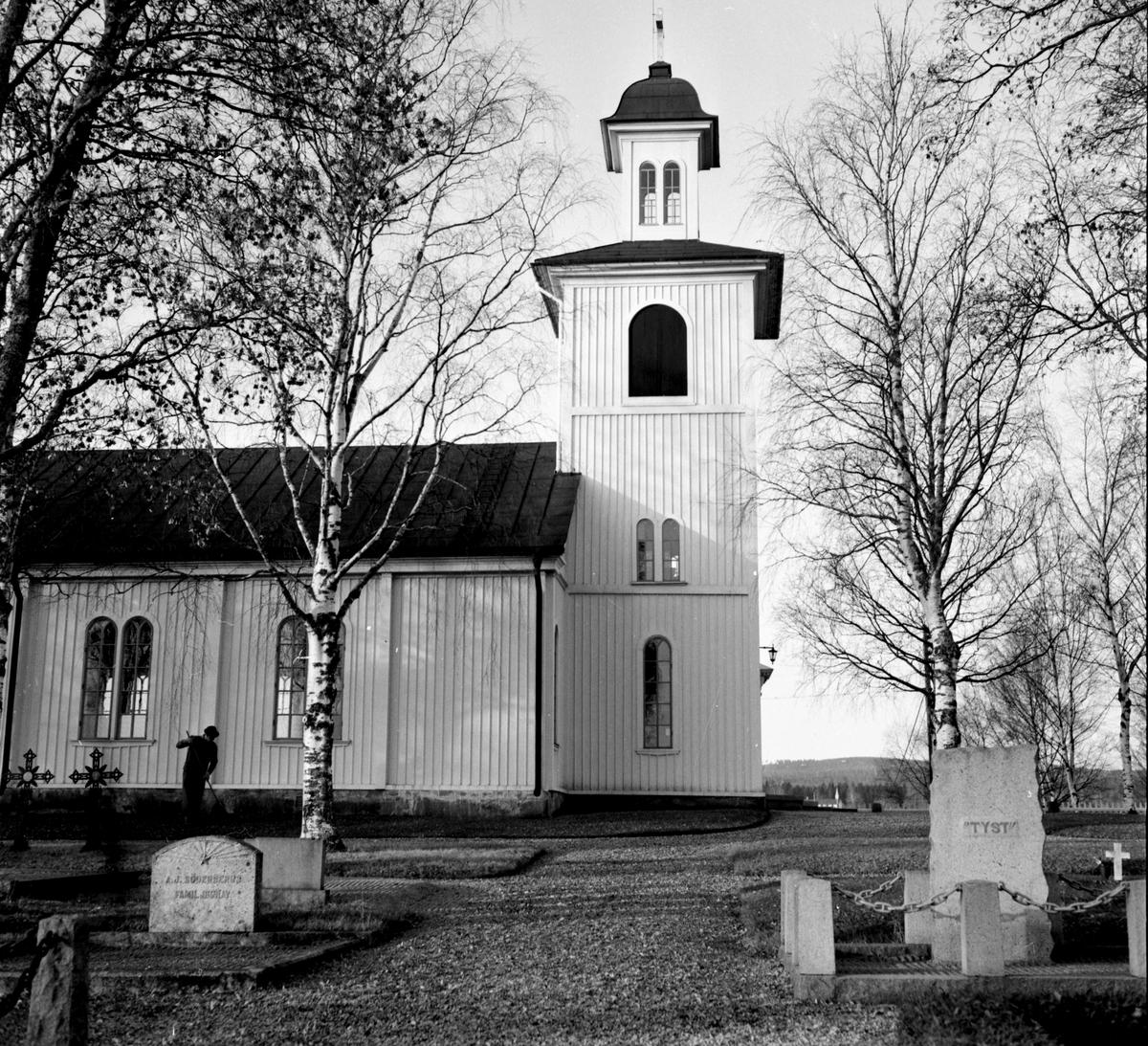 Lingbo kyrkan, Pastor Almgren, Vaktm Melker Westin, 30 okt 1964