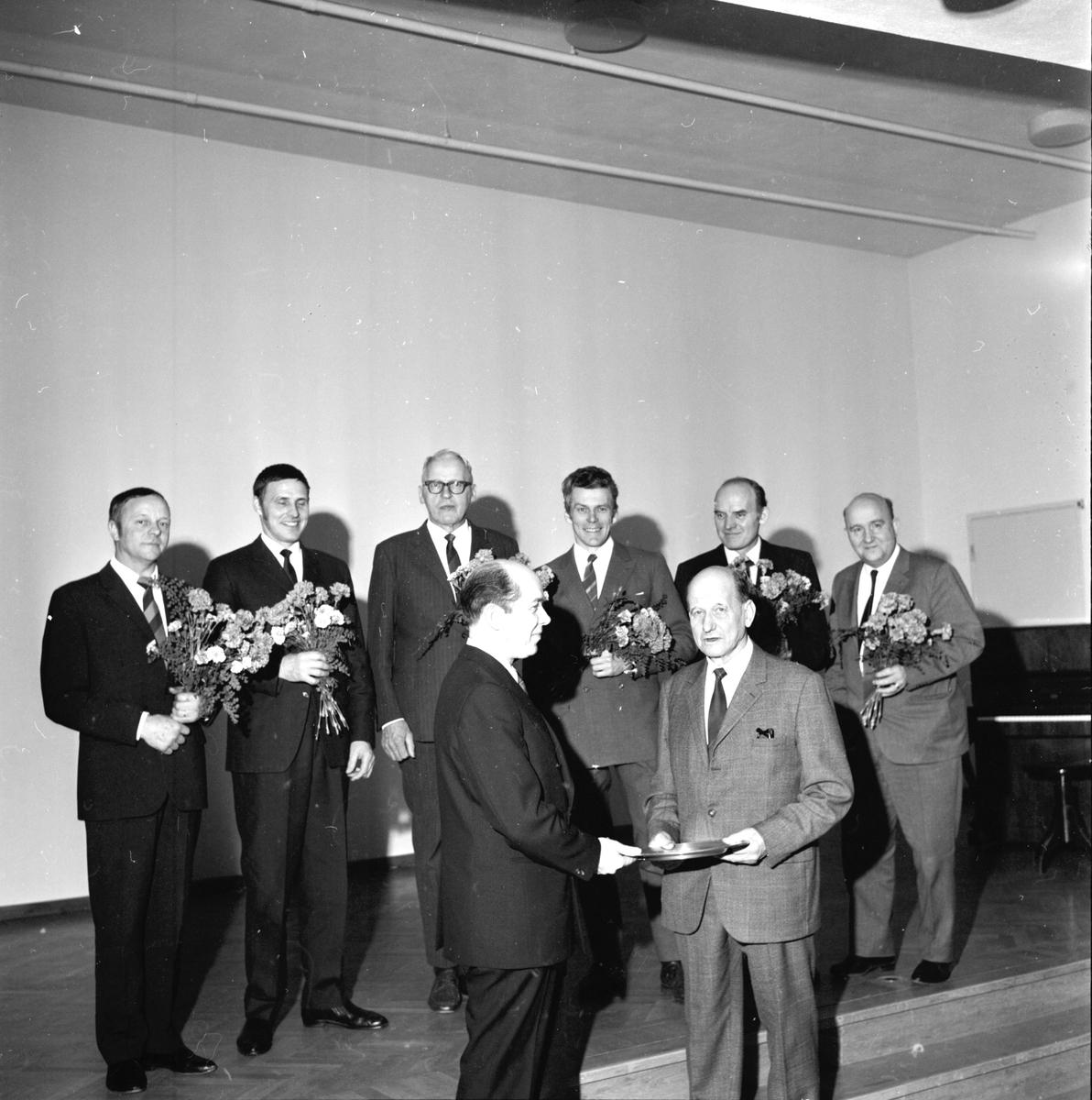 Arbrå. Sista fullmäktige sammanträdet. December 1970