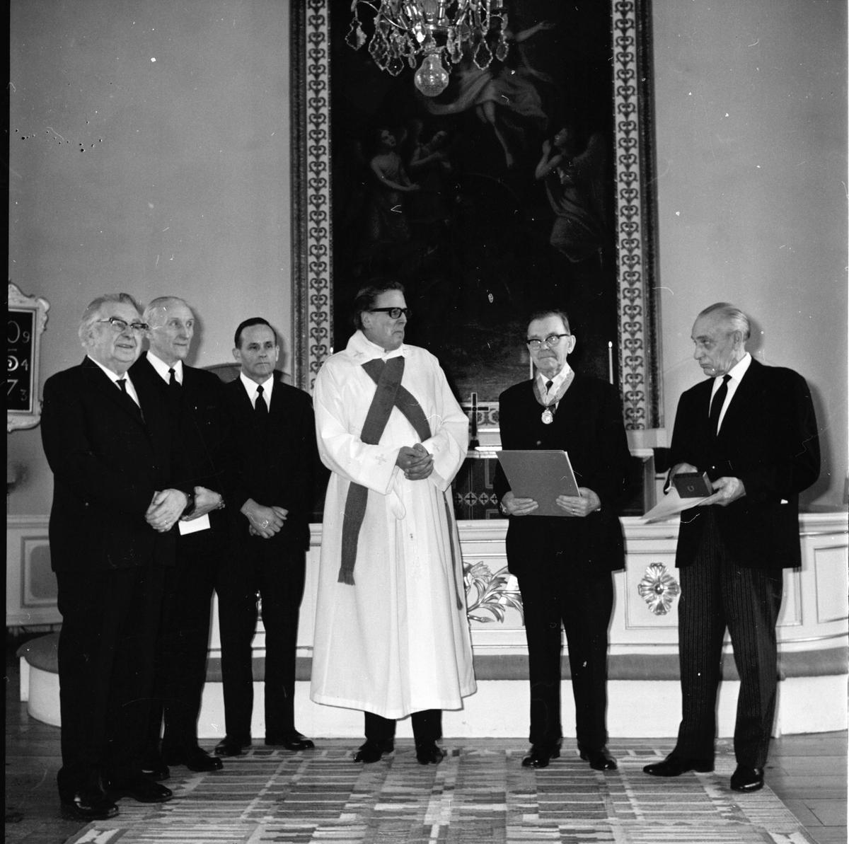 Undersviks kyrka, Patr.Sälls utmärkelse till Edlund o Mårten Persson, Mars 1972