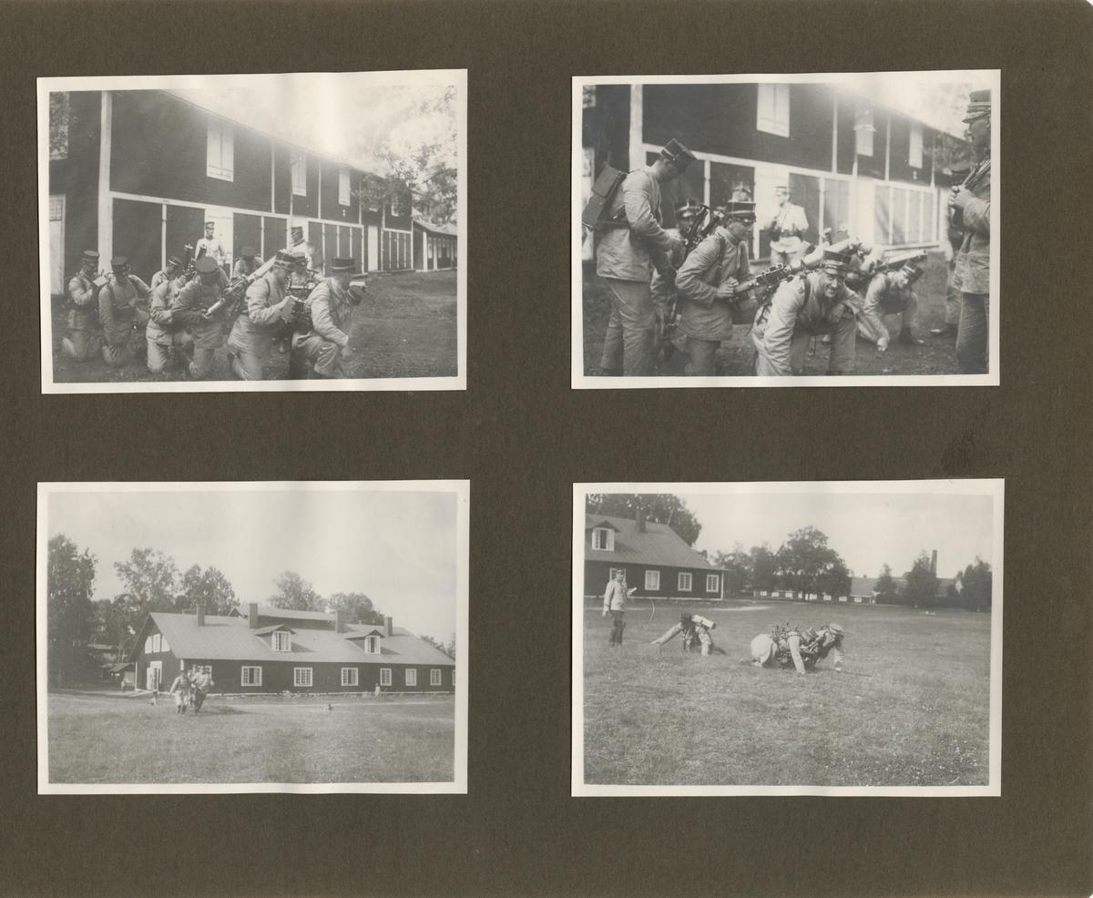 Fästning av kulspruta m/1914 på bärsele.