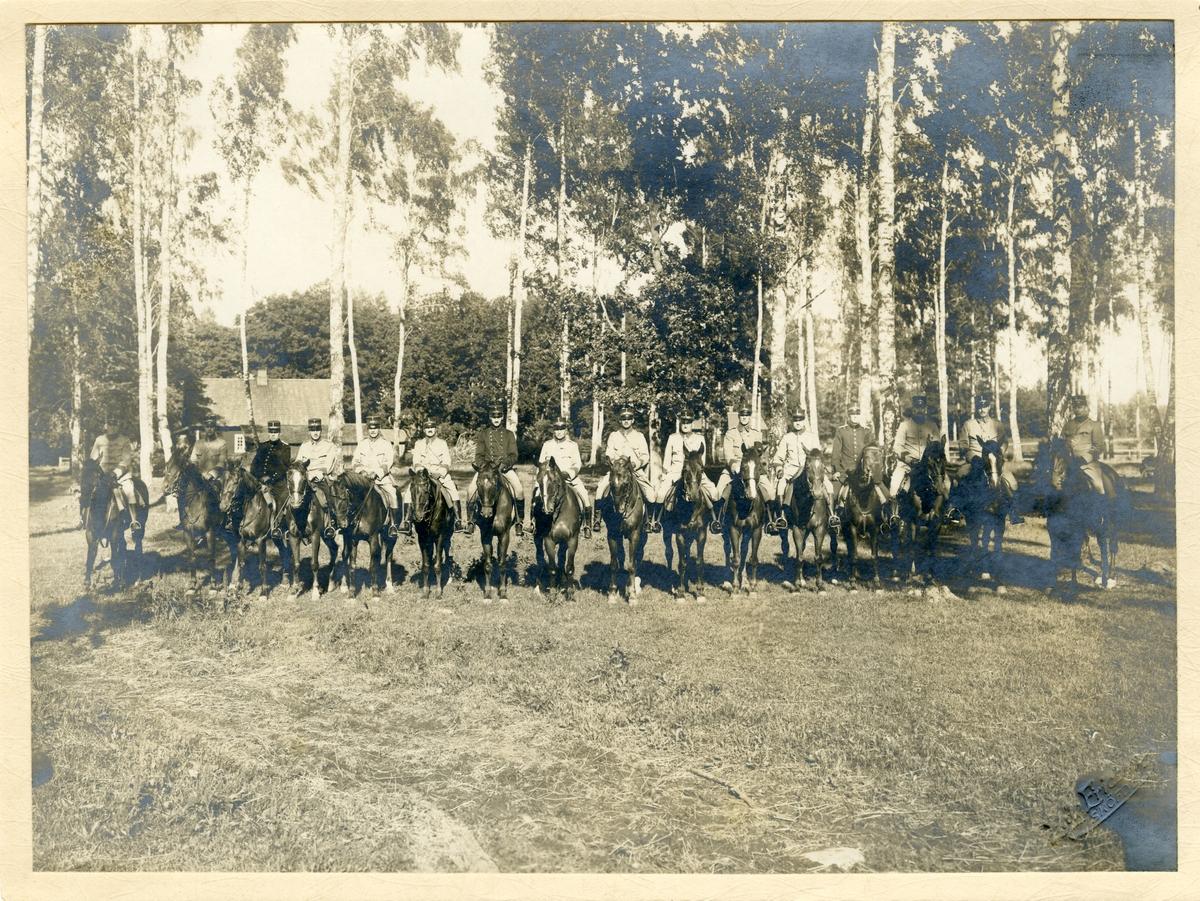 Taktiska övningar för militärläkare ur III arméfördelningen 1917.