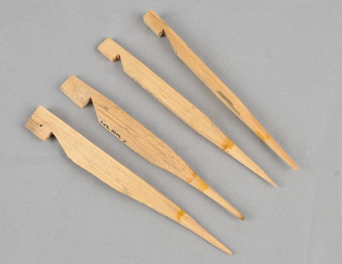 Oppheng til knivskaft ved beising og oljing.