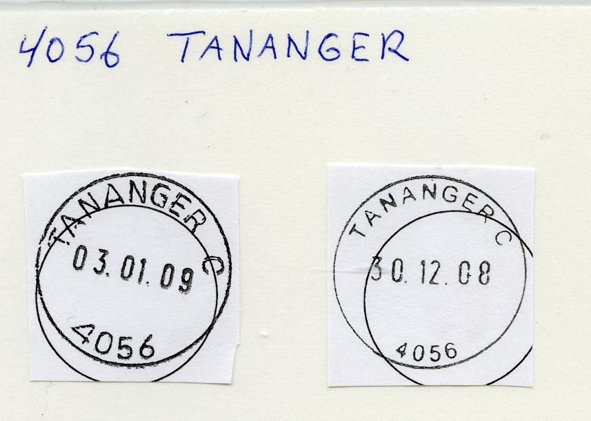 Stempelkatalog 4056 Tananger, Sola, Rogaland