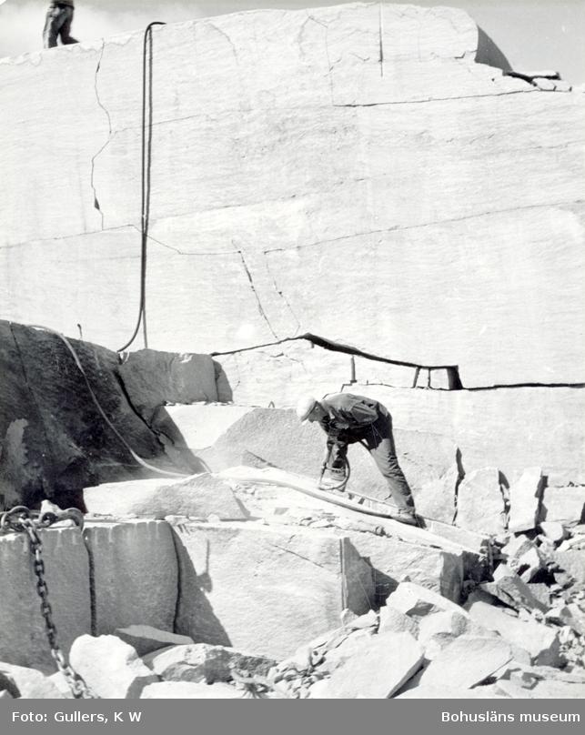 Borrning i stenblock