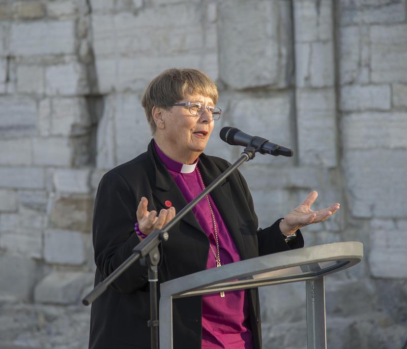 Biskop Solveig Fiske holdt åpningstalen.
