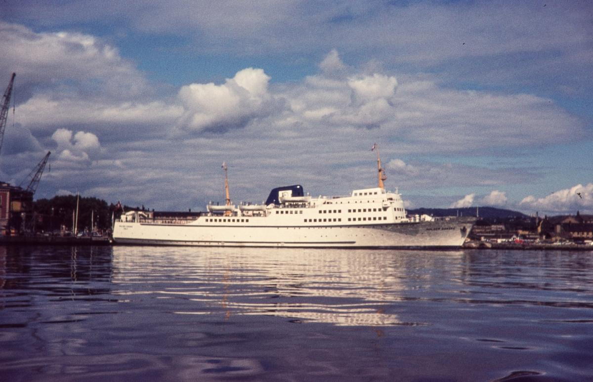 MS Holger Danske ved kai i Oslo. Gikk  i fart mellom Oslo og Århus, senere Frederikshavn 1961 - 1989.