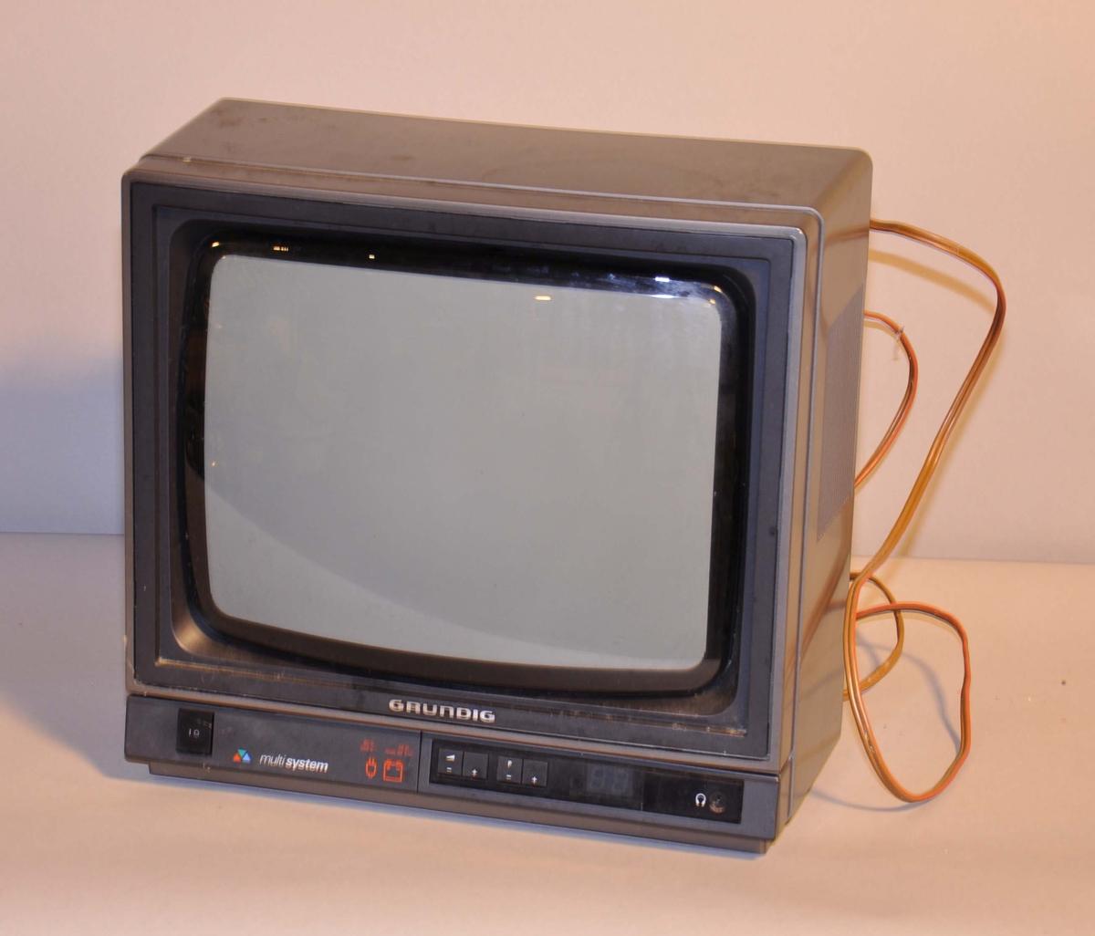 TV med knapper på framsiden.