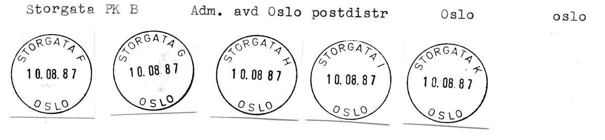 Stempelkatalog Storgata, Oslo, Oslo