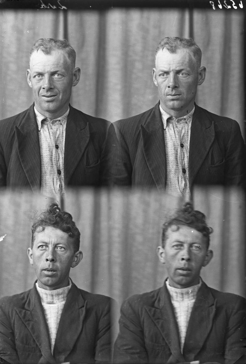 Portrett. To menn. Bestillt av Borge Nordnes. Aakrahavn. Karl Salvesen.