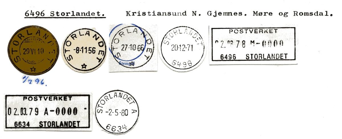 Stempelkatalog 6496 Storlandet, Gjemnes kommune, Møre og Romsdal