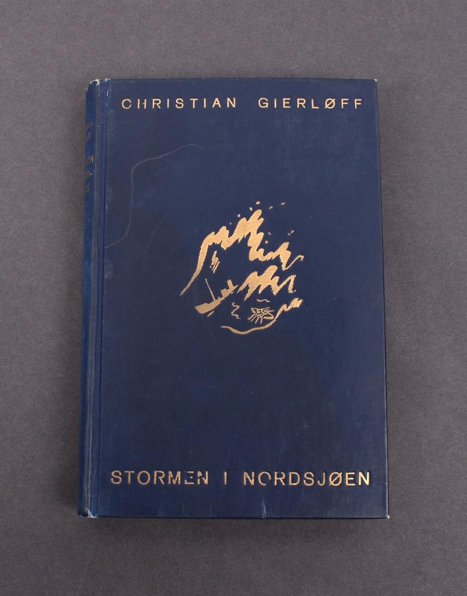 """Bok med tittel """"Stormen i Nordsjøen"""""""