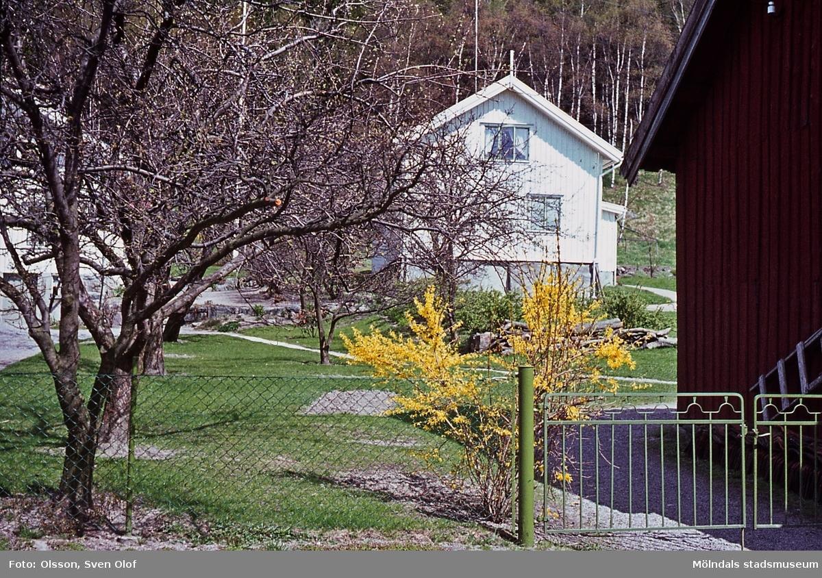 Bebyggelse på Mellangården 7 i Toltorp, Mölndal, år 1965.