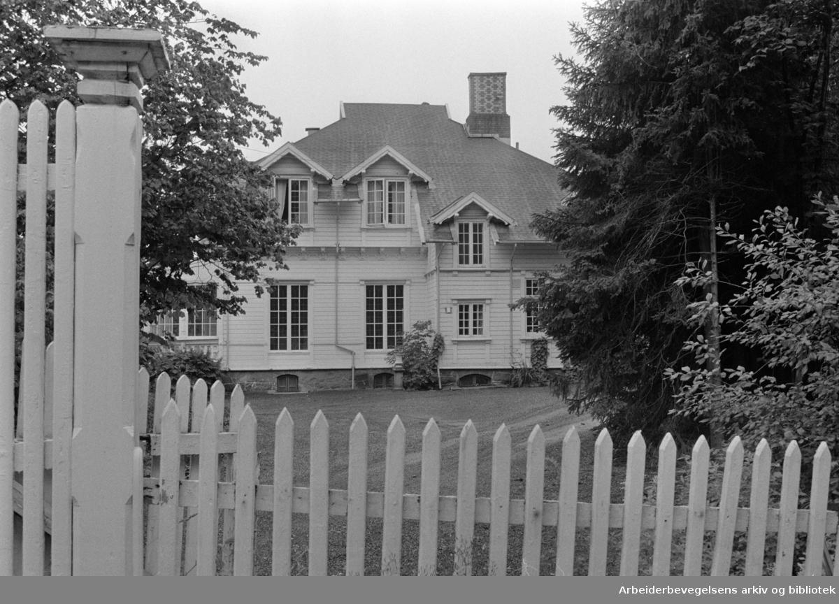 Tennisveien 2. Ettervernshjem. Juli 1970