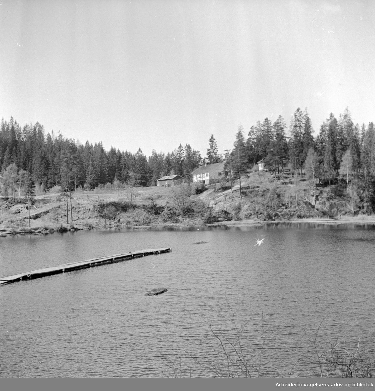 Trollvannet og Trollvannstua: Juni 1957.