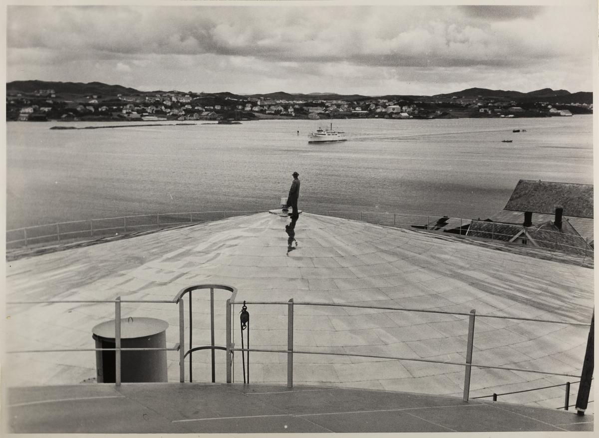 Omegnen I - Den søndre del av byen sett fra NOR's Oljetanker på Karmøy ca.1958