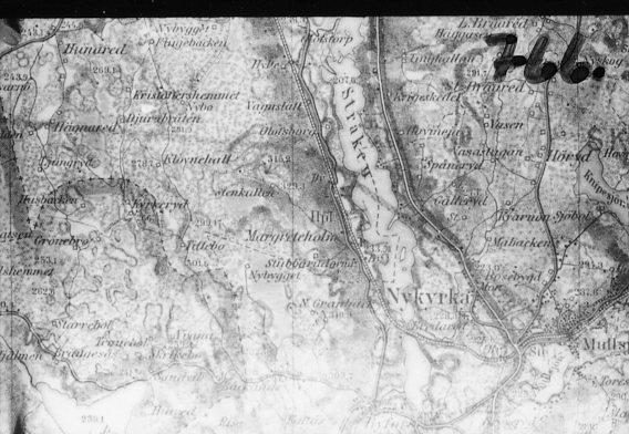 Avfotografering av Generalstabskartan.