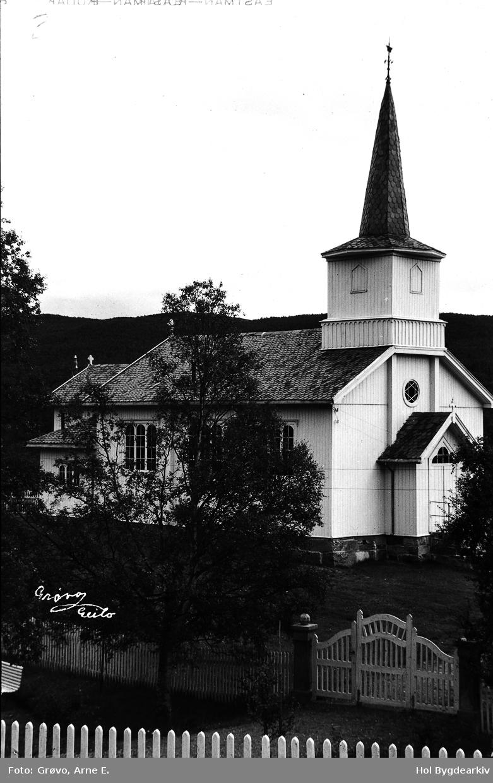 Kyrkje, Geilo, bygning, eksteriør, arkitektur, sommar