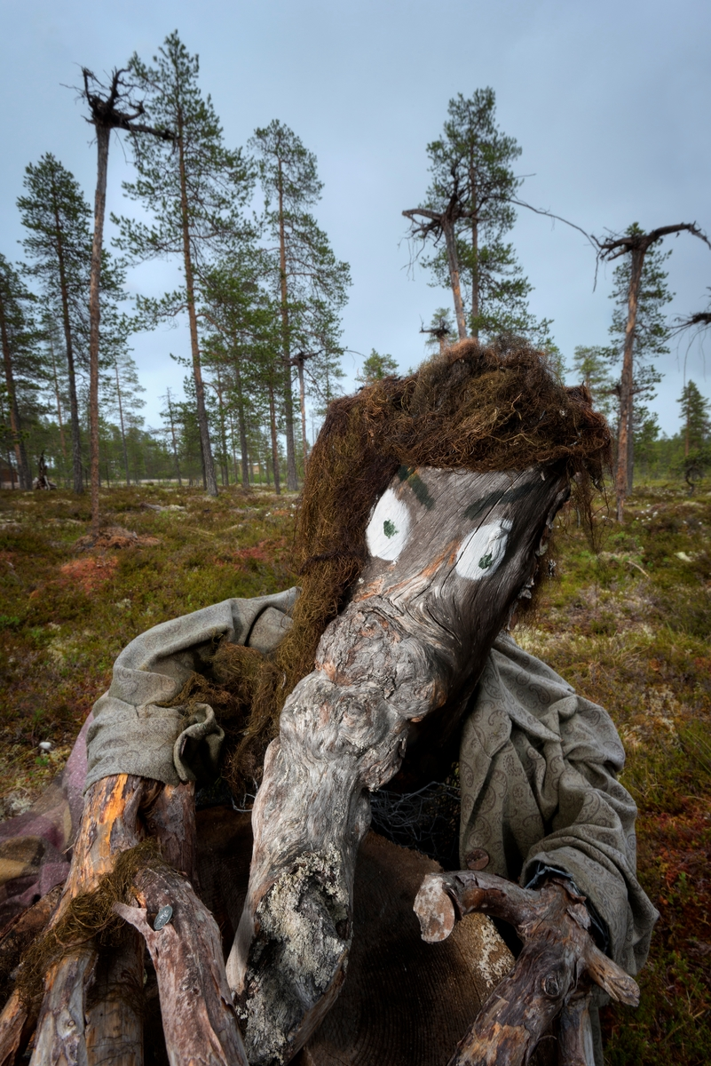 Troll. Trollfigur. Eventyrfigur. Fra Blokkodden Villmarksmuseum ved Drevsjøen i Engerdal, Hedmark.