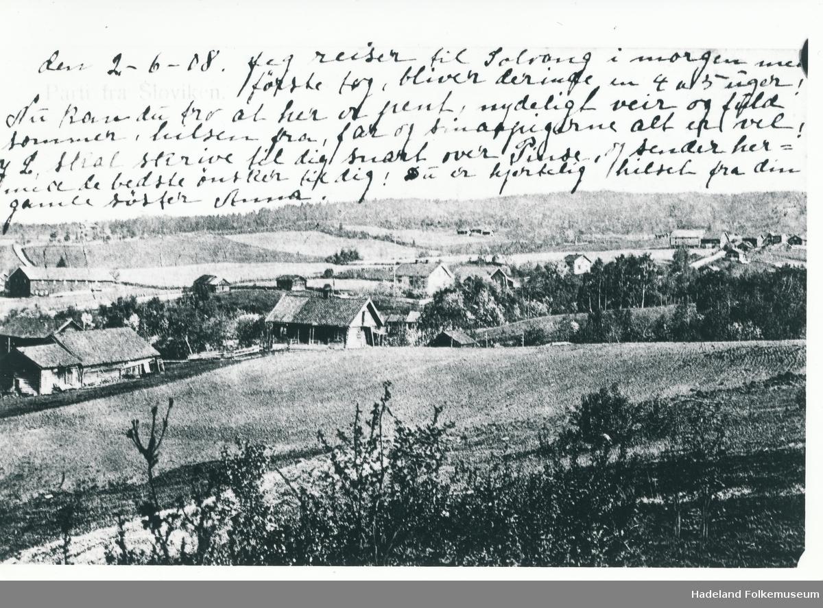 Landskapsbilde fra Sløvika.