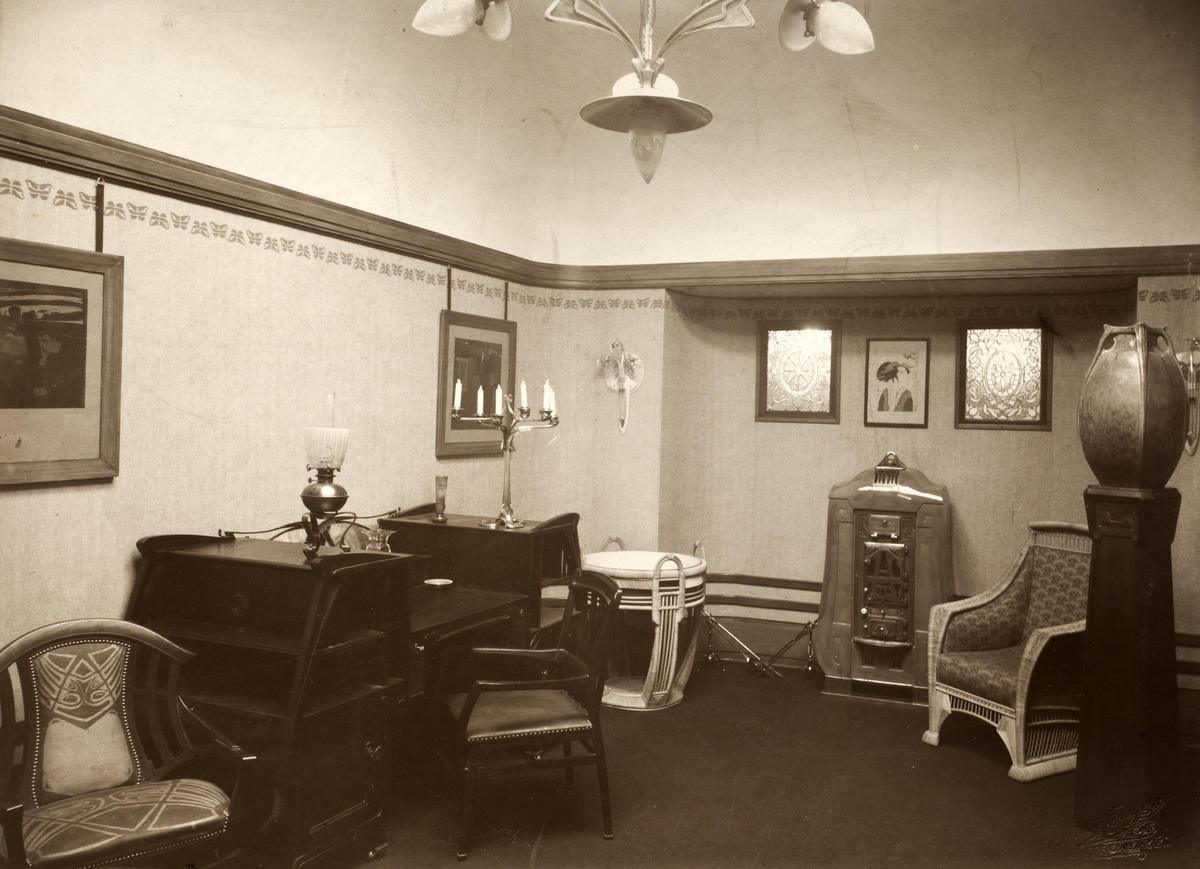 Interiør Henry van de Velde slik det så ut da det åpnet i 1908. (Foto/Photo)