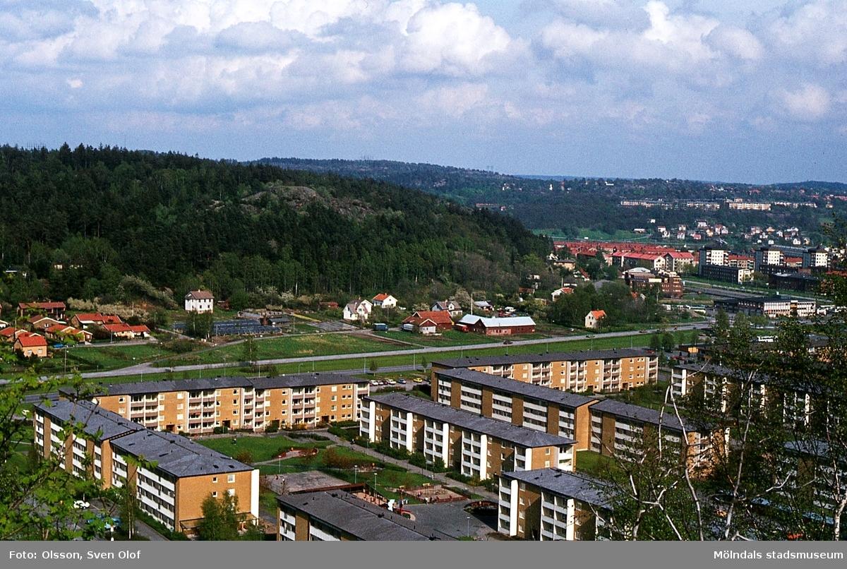 Toltorp i Mölndal, år 1983. Bostadsbebyggelse i Bifrostområdet med Toltorps by i bakgrunden. T 3:17.