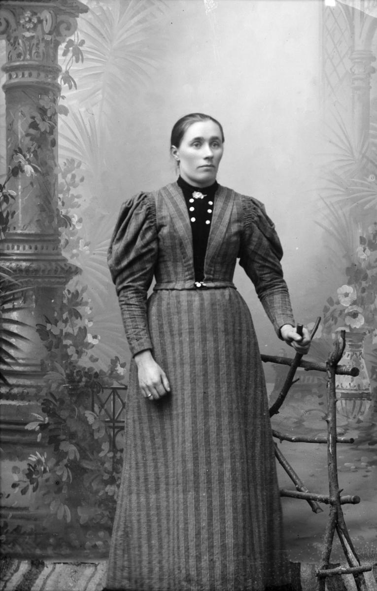 Portrett, helfigur av Karen Himen, antageligvis Karen Olsdatter Himen født 1846 i Gausdal