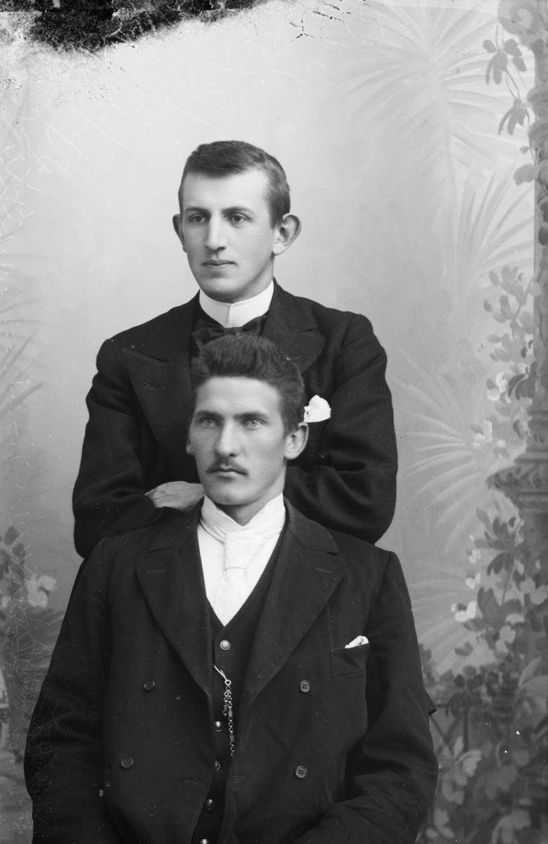 Portrett av to menn notert som Digne og Arnestad.