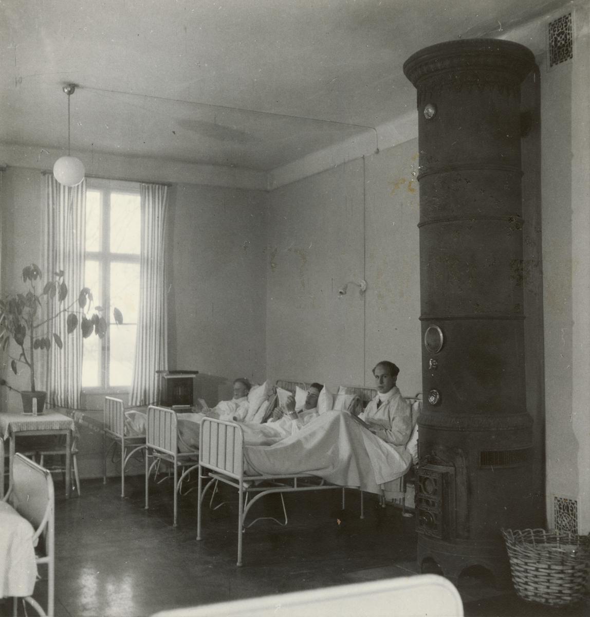 Sjukstugan på 2:a våningen, Svea artilleriregemente A 1, våren 1947.
